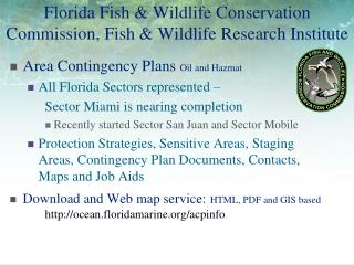 Florida Fish  Wildlife Conservation Commission, Fish  Wildlife Research Institute