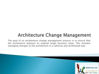 Architecture Change Management