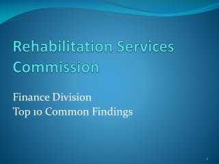 Rehabilitation Services Commission