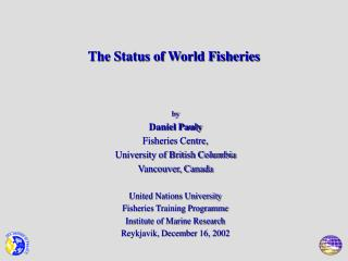 The Status of World Fisheries