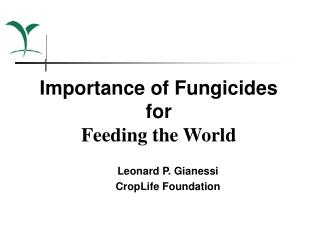 Importance of Fungicides  for Feeding the World