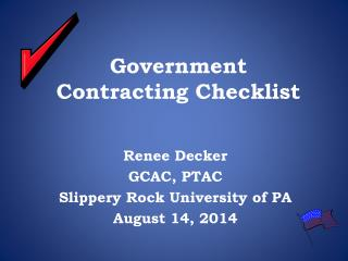 Government Contracting Checklist
