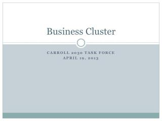 Business Cluster