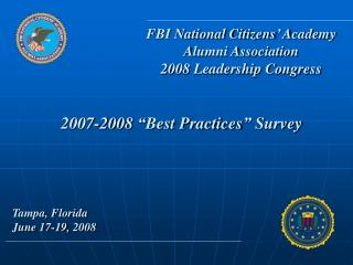 "2007-2008 ""Best Practices"" Survey"