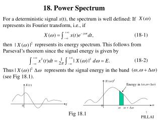 For a deterministic signal  x (t), the spectrum is well defined: If