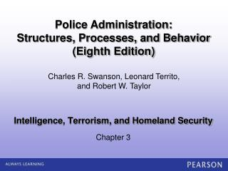 Intelligence, Terrorism, and Homeland Security