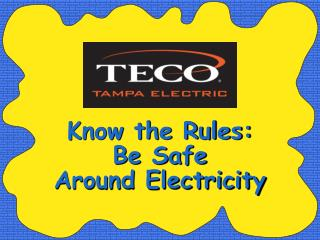 Know the Rules: Be Safe Around Electricity