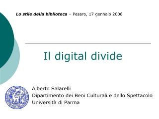 Il digital divide