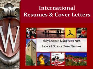 International  Resumes & Cover Letters