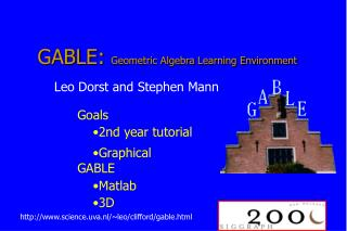 GABLE:  Geometric Algebra Learning Environment