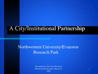 A City/Institutional Partnership