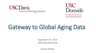Gateway to Global Aging Data