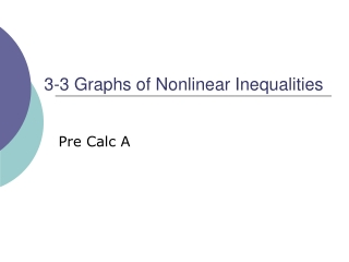 Nonlinear Inequalities