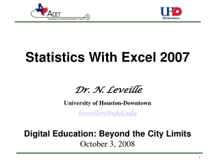 Statistics with Excel