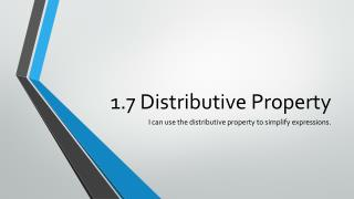 1.7 Distributive Property