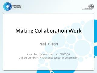 Making Collaboration Work