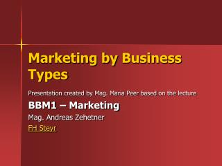 Marketing  by  Business  Types