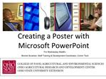 Creating a Poster with Microsoft PowerPoint