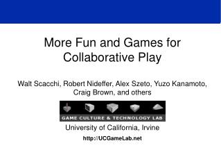More Fun and Games for Collaborative Play