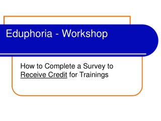 Eduphoria - Workshop