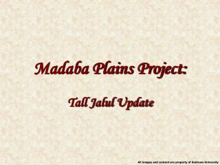 Madaba Plains Project: