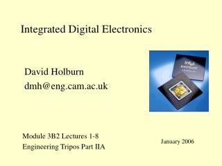 Integrated Digital Electronics