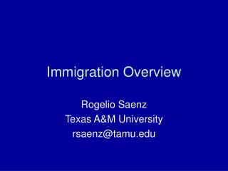 Immigration Overview