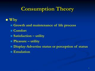 Consumption Theory