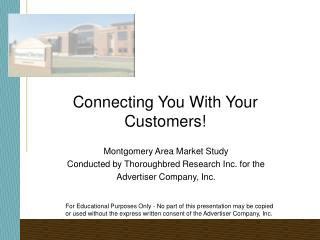 Connecting You With Your Customers!