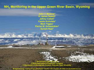 NH 3  Monitoring in the Upper Green River Basin, Wyoming