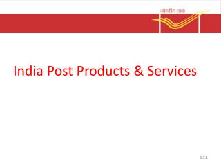 India Post Products & Services