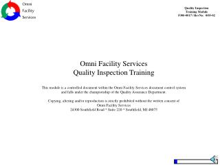 Omni Facility Services Quality Inspection Training