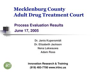 Mecklenburg County  Adult Drug Treatment Court
