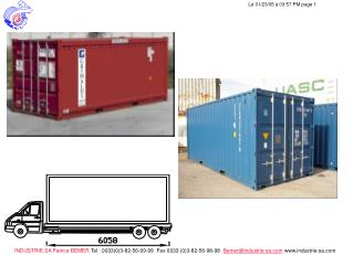 Accrochage du container