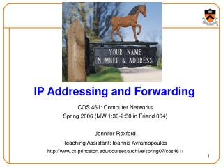 IP Addressing and Forwarding
