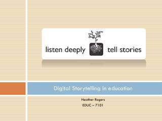 Digital Storytelling in education