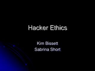 Hacker Ethics