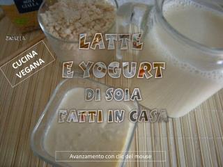 Latte di soia e yogurt