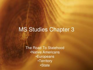 MS Studies Chapter 3
