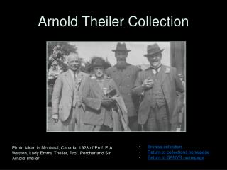 Arnold Theiler Collection