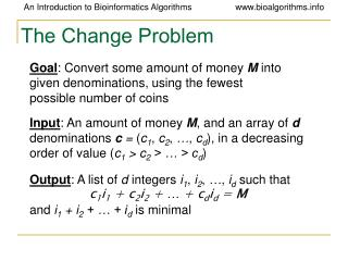 The Change Problem