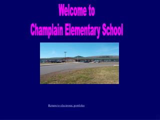 Welcome to Champlain Elementary School