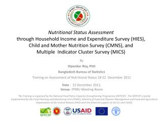 By  Dipankar Roy, PhD Bangladesh Bureau of Statistics
