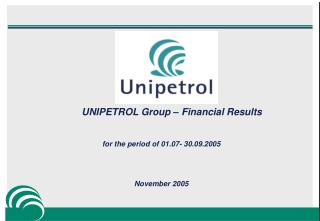 UNIPETROL Group – Financial Results