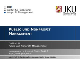 Public  und  Nonprofit  Management