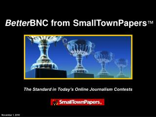 The Standard in Today's Online Journalism Contests
