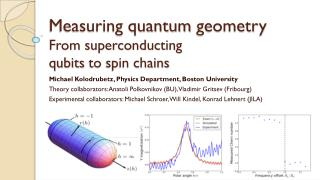 Measuring quantum  geometry From superconducting qubits  to  spin chains