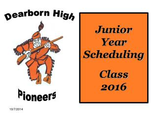 Junior Year Scheduling Class  2016