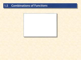 Combination on Functions