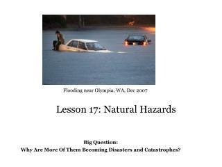 Lesson 17: Natural Hazards